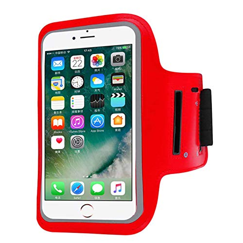 Water Resistant Cell Phone Armband Case Compatible with iPhone X Xs,8 7 6 6S 8, 7,6S,SE,5S,5C,5,4S,4,GalaxyS9,S8,S7,S6,Phone Models Diagonal 4.0