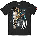 MARVEL Wolverine Panel Series Men's Ambigram Black T-Shirt