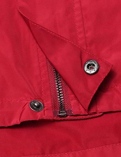 Lamore de Cremallera con Hombre Outdoor Deporte y Capucha Ligera Jacket Rojo Chaqueta g6wrXSqxg