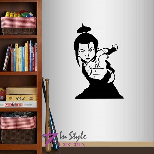 Wall Vinyl Decal Home Decor Art Sticker Kung-Fu Fighter Anime Manga Girl Martial Arts Sport Room Removable Stylish Mural Unique Design