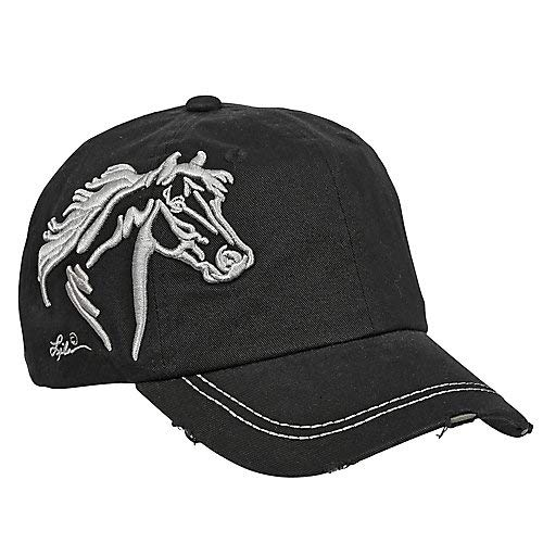 Horse Head Raised Embroidery Hat Black (Horse Head Hat)