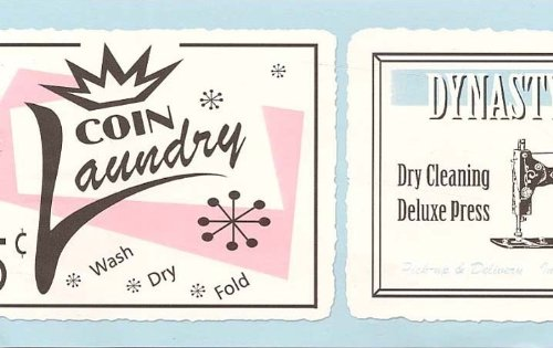 Laundry Room Wallpaper Border - Sewing - Vintage signs - Retro…
