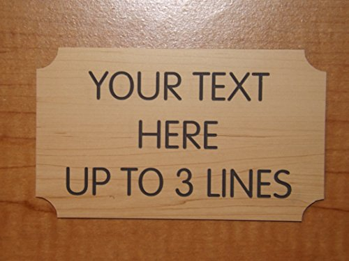 Address Plaque Holders - Custom Engraved Wood-Grain Finish 3x5 Suite Sign | Personalized Name Plate | Home Office Unit Small Business Customized Wall Plaque Placard | Adhesive Backed (Birch)
