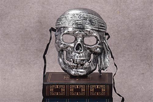 ATOLY Pirate Silver Mask, Vampire Halloween Mask, Halloween Mask Woman -