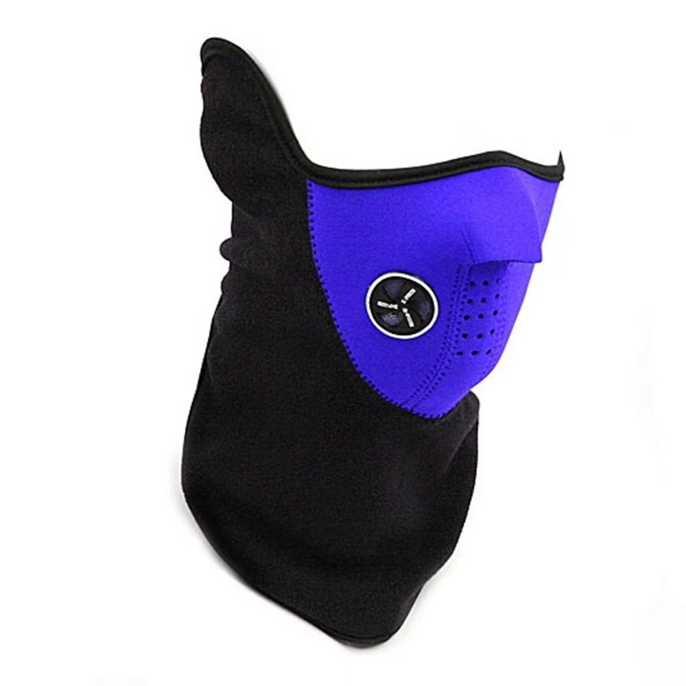 Motorcycle Motorbike Thermal Balaclava Half Mask, Black, Red, Blue, Size One size,