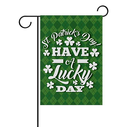 U LIFE Hello Lucky St Patricks Day Green Floral Four Leaf Cl