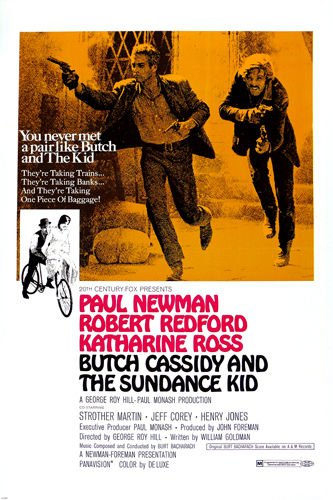 BUTCH CASSIDY and the SUNDANCE KID robert REDFORD paul NEWMAN action 24X36