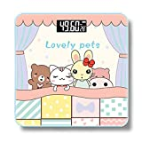 JTHKX Mini Weight Scale Health Home Bathroom Scale Adult Precision Weight Loss Scale Pattern Scale,Small Animals [Battery Money]