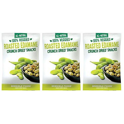 Sensible Foods Roasted Edamame Crunch Dried Snacks 1.8 oz...
