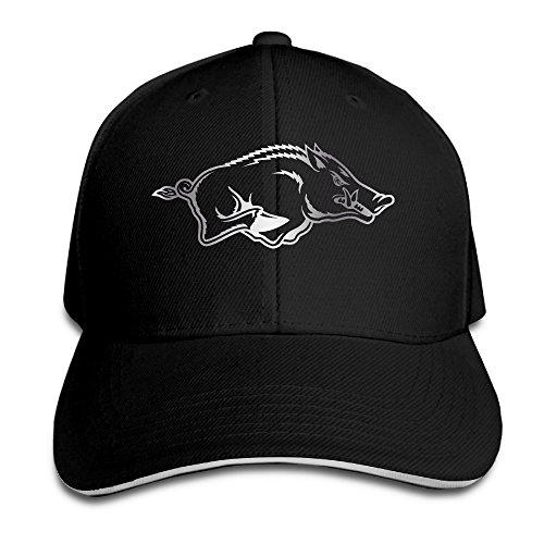 Arkansas Razorbacks Platinum Logo Flex Baseball Cap Black