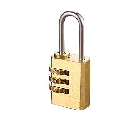 Candado Cerradura de Combinación de 3 Dígitos para Gimnasio, Escuela y Empleado Locker Cerradura Codificada