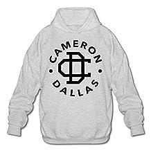 PHOEB Mens Sportswear Drawstring Hoodies Outwear Jacket,Cameron Dallas Ash
