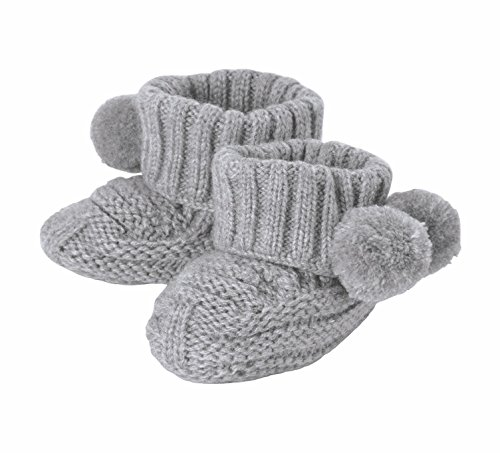 Mud Pie Pom Pom Booties Cotton Baby Products, Gray