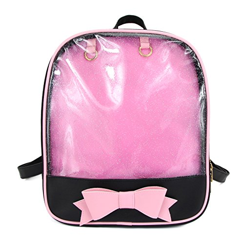Candy Bag Charm - SteamedBun Ita Bag Candy Leather Backpack Bowknot Transparent Beach Girls School Bag