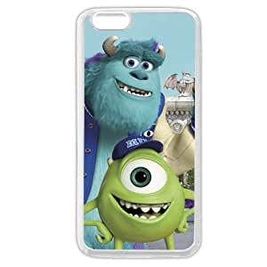 Customized White Soft Hard(PC) Disney Cartoon Monsters University Case Cover For Apple Iphone 4/4S Only fit Case Cover For Apple Iphone 4/4S