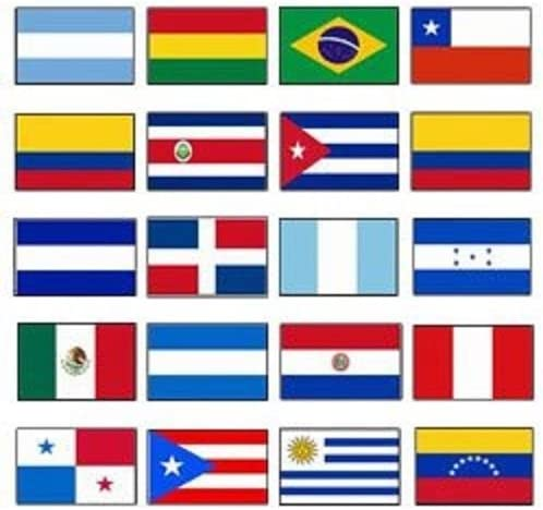 Latin America 2X3 Flag Satz von 20 Country Countries Polyester Flags Grommets