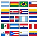 Latin America 2×3 Flag Set of 20 Country Countries Polyester Flags grommets Review