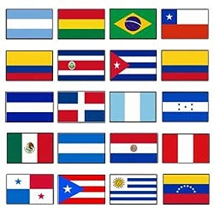 b72ee087016d Amazon.com   Latin America 3x5 Flag Set of 20 Country Countries Polyester  Flags grommets   Garden   Outdoor