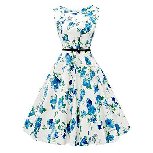 MuteLamb Vintage Sleeveless Dresses Floral product image