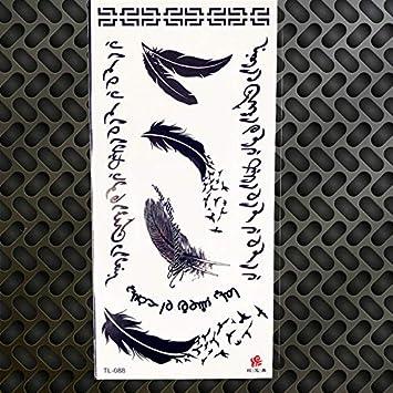 HXMAN 5 Unids Bosque Montaña Temporal Tatuaje Pegatina Polar Negro ...