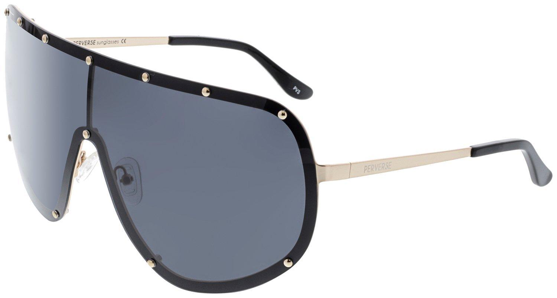 Perverse Sunglasses Final Frontier Super Oversized, Black, Size One Size