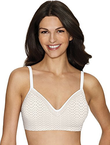 Hanes Comfort Evolution Lace Fit Wirefree Bra_Tick Tock Chevron Print_X-L