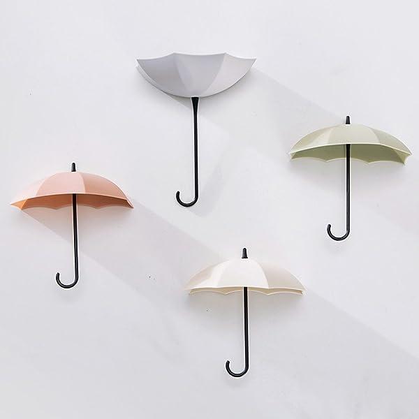 3PCS Umbrella Wall Rack Hook Key Holder Hanger Jewelry Small Items Organizer