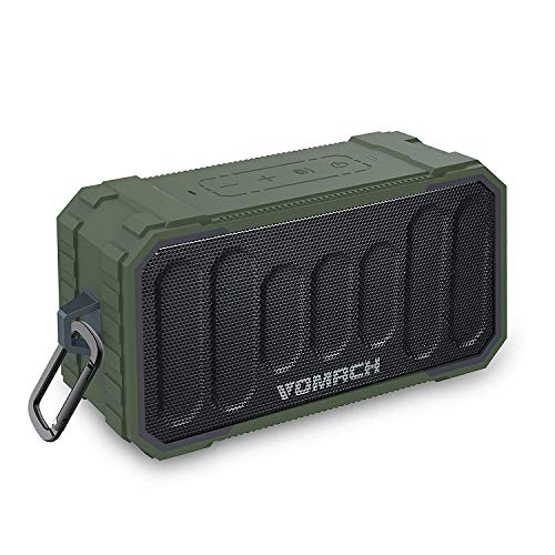 PWOW Bluetooth Speakers IPX6 Waterproof, Bluetooth 4.2 10Watts Portable Wireless Speaker with deep Bass Stereo Sound 6H Playtime for Home, Outdoors, Party, Travel Army Green