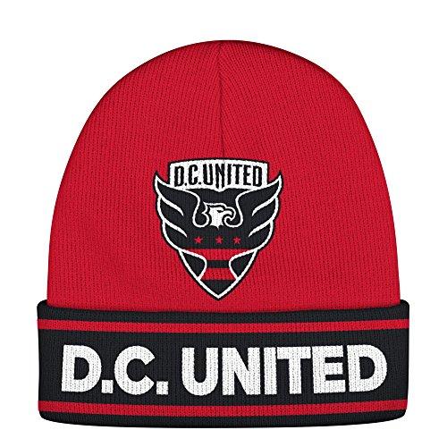adidas MLS D.C. United Adult Men Jacquard Logo Cuffed Knit, One Size, ()
