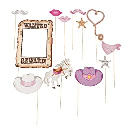 Pink Cowgirl Handheld Costume Props