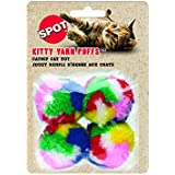 Ethical Kitty Yarn Puffs Cat Toys, 4 Small Balls