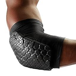 McDavid Pair Teflx Knee/Elbow/Shin Pads, Large, Black