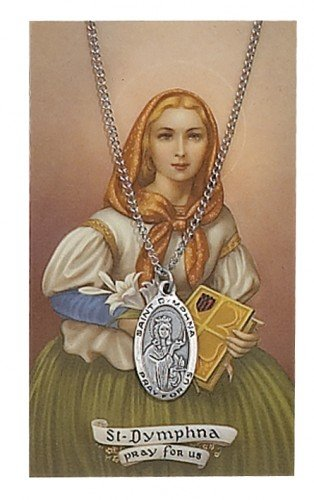 st-dymphna-catholic-pewter-medal-with-prayer-card-set-chain-great-for-men-women-children-catholic-sa