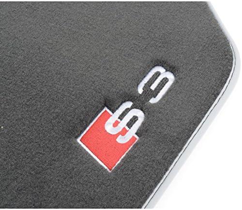 Negras y Plateadas Audi Alfombrillas Premium Delanteras y traseras 8V5061270MNO