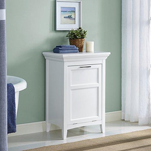 WYNDENHALL Hayes Laundry Hamper in White, 29.92 high x 20.47 wide x 14.96 deep by Wynden Hall