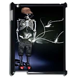 Ipad2,3,4 Skeleton Phone Back Case DIY Art Print Design Hard Shell Protection YT070440