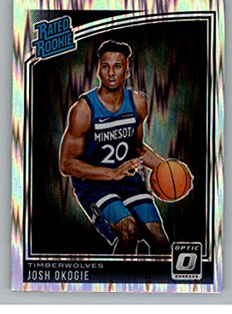 67bb0f5bb8d 2018-19 Donruss Optic Shock Basketball  194 Josh Okogie Minnesota  Timberwolves Rated Rookie Official