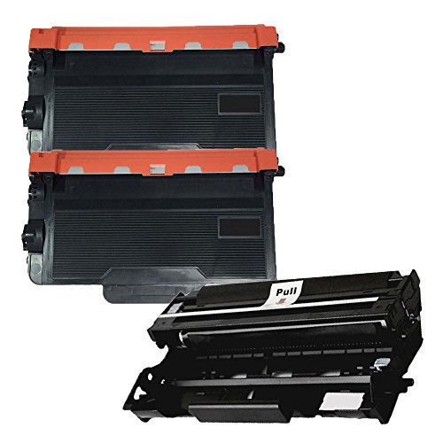 (1 Drum + 2 Toner) Inktoneram Replacement toner cartridges & Drum for Brother TN850 DR820 Toner Cartridges & Drum for Brother DR-820 TN-850 Set MFC-L6800DW MFC-L6900DW MFC-L5850DW MFC-L5700DW