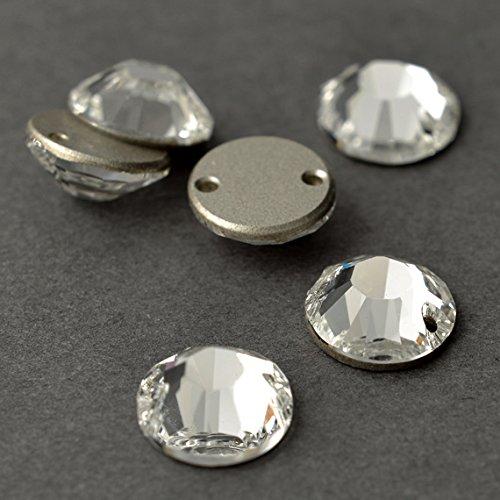 10mm SWAROVSKI 3204 Sew On Rhinestone by 6 PCS, Crystal by Swarovski Rhinestones
