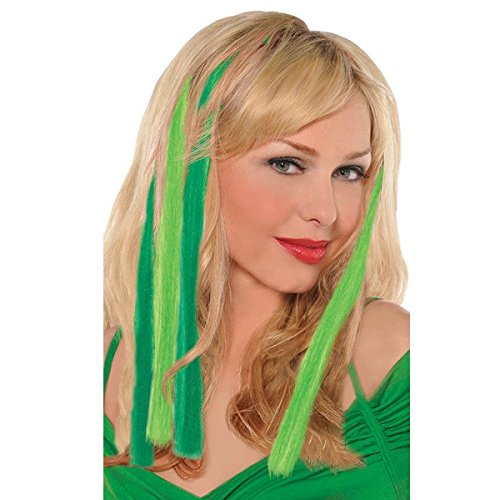 Amscan St. Patrick's Day Green Hair Extensions, 5 Ct. | Party Accessory -