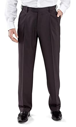 Winthrop Church Men S Pleated Front Poly Wool Trouser Long Rise At
