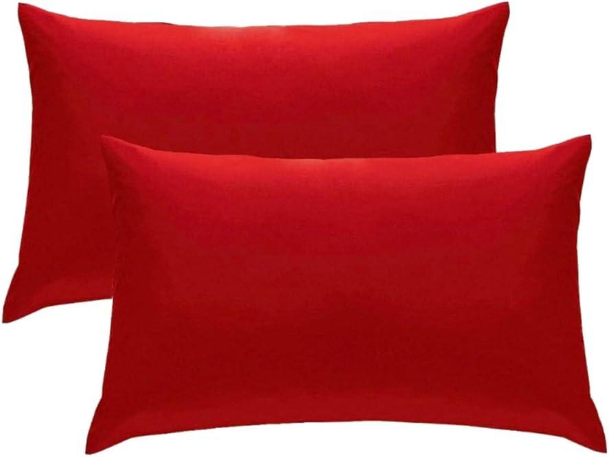 Shoppingba fundas de almohada de sat/én funda de almohada de microfibra de seda cierre sobre 50 x 70 cm 2 piezas suave color s/ólido funda de coj/ín funda de almohada hogar sof/á silla decoraci/ón