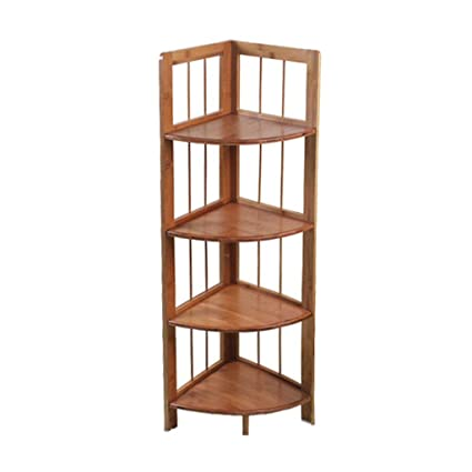 Amazon.com: Lil Shelf Solid Wood Shelves Floor Corner Shelf ...
