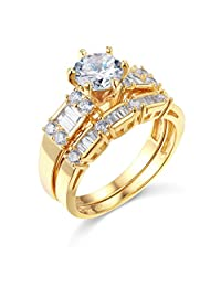 band wedding regal engagement with gold rings