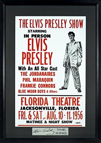 Elvis Presley 1956 Concert Poster Sga Signature Series Framed