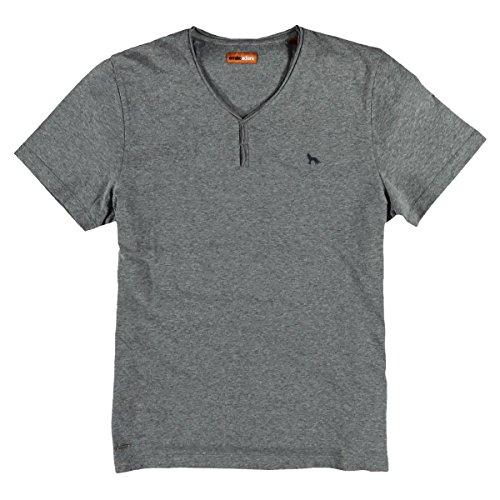 emilio adani Herren V-Neck T-Shirt, 23714, Grau