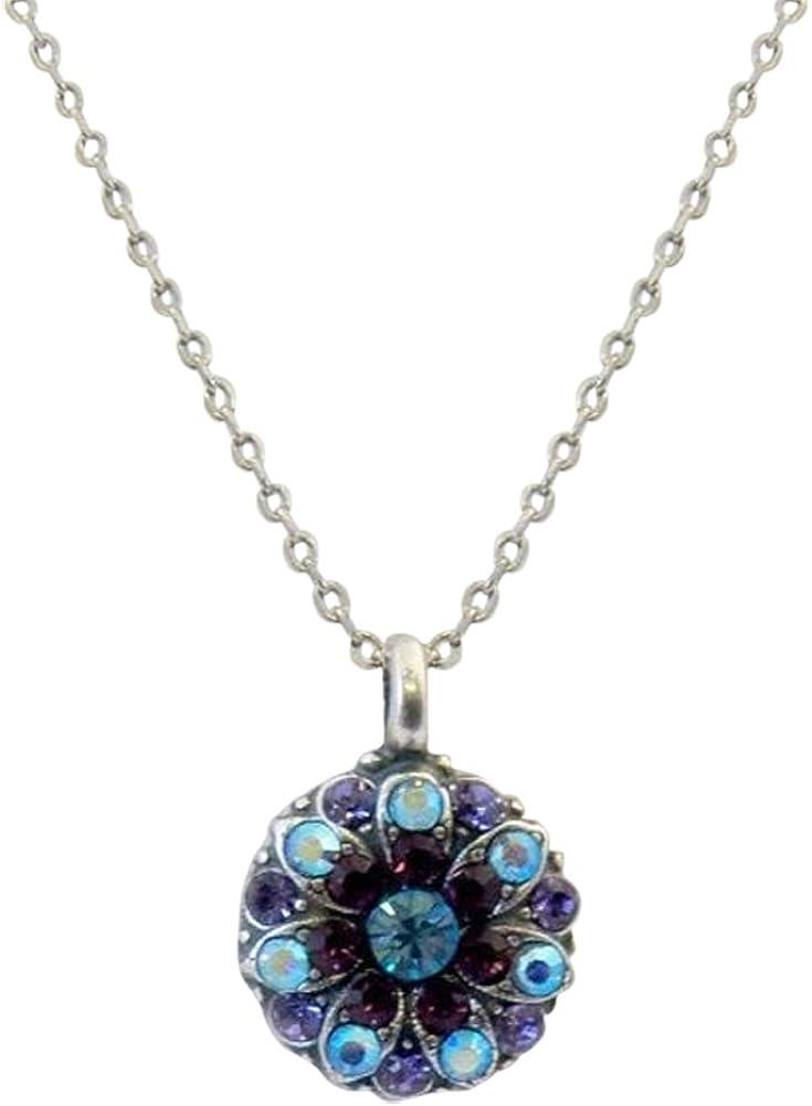 Mariana Guardian Angel Aqua & Purple Swarovski Crystal Necklace 153 51drRBFRb2BL