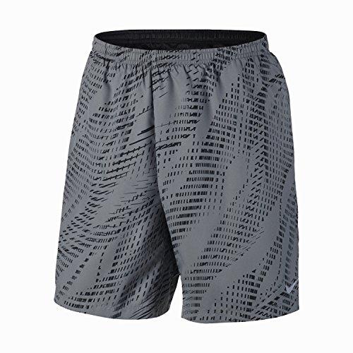 """Nike Men's Flex 7"""" Running Shorts Cool Grey/Black Sz Medium"""
