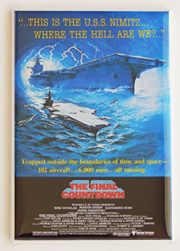 The Final Countdown Movie Poster Fridge Magnet (2.5 x 3.5 inches)