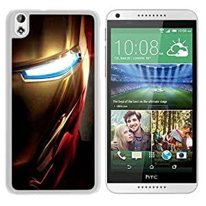 Recommend Design Iron Man Face Close up White HTC Desire 816 Protective Phone Case